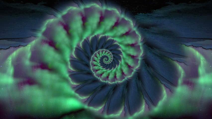 Aurora Ocean Fibonacci Spira l