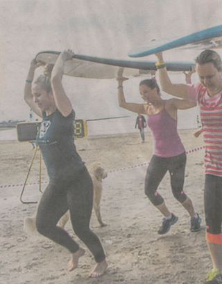 """Event director Penny Comins hopes Steelman will appeal to families. """"All ages and skill levels are welcome, and it's a really fun thing for families to do together. Some of the challenges may be easier for kids, some they may need help with.""""  Publication: Weekend Herald  Feature title: Paddle event adds steel to cancer fight 