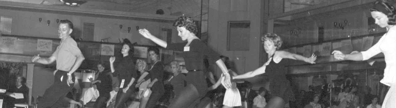 Ken teaching at Dance Masters National Convention, 1953.