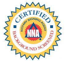 NNA Certified Notary Signing Agent and Background Screened