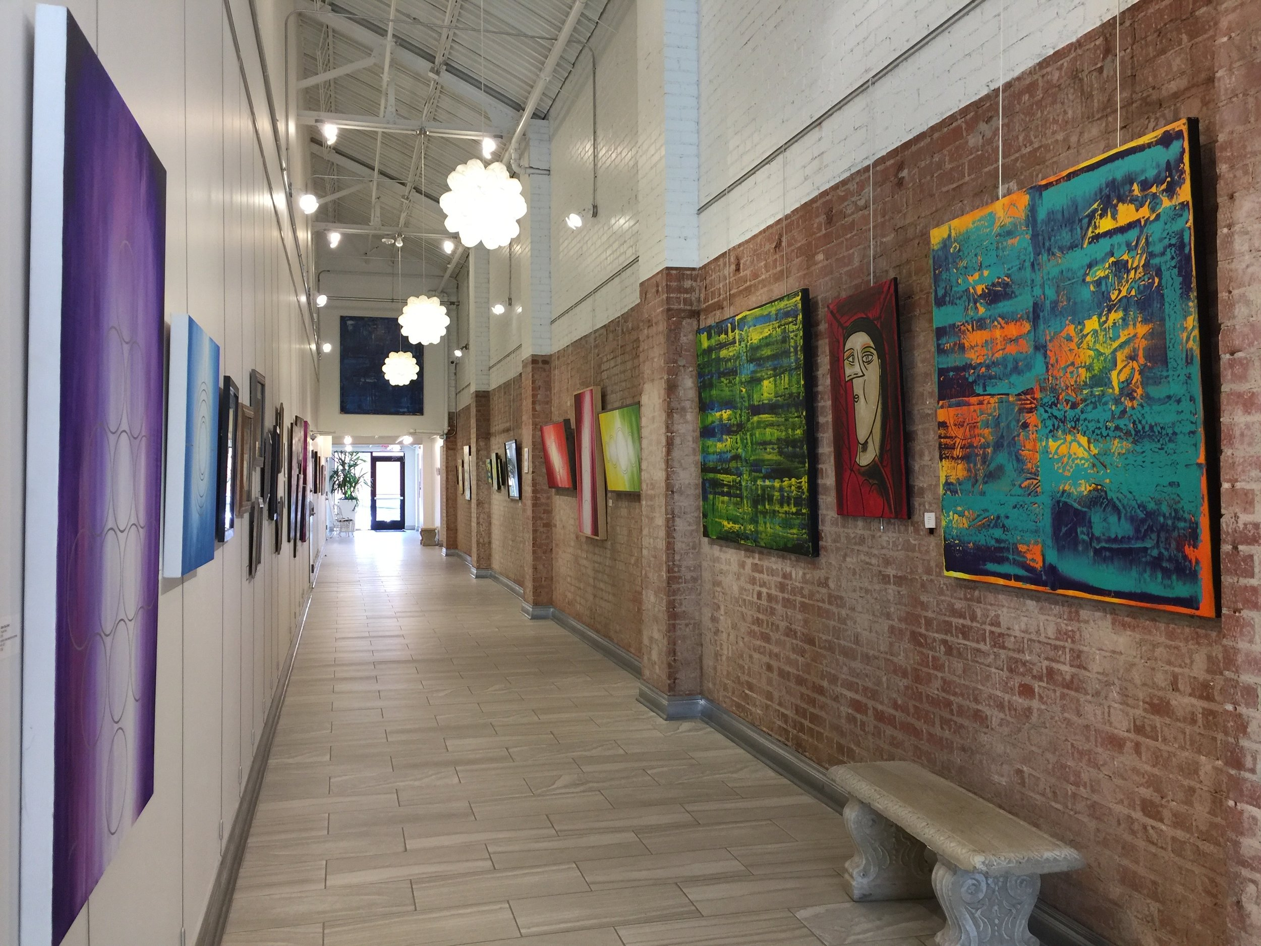 Installation view, featuring Sean Giboney on East wall