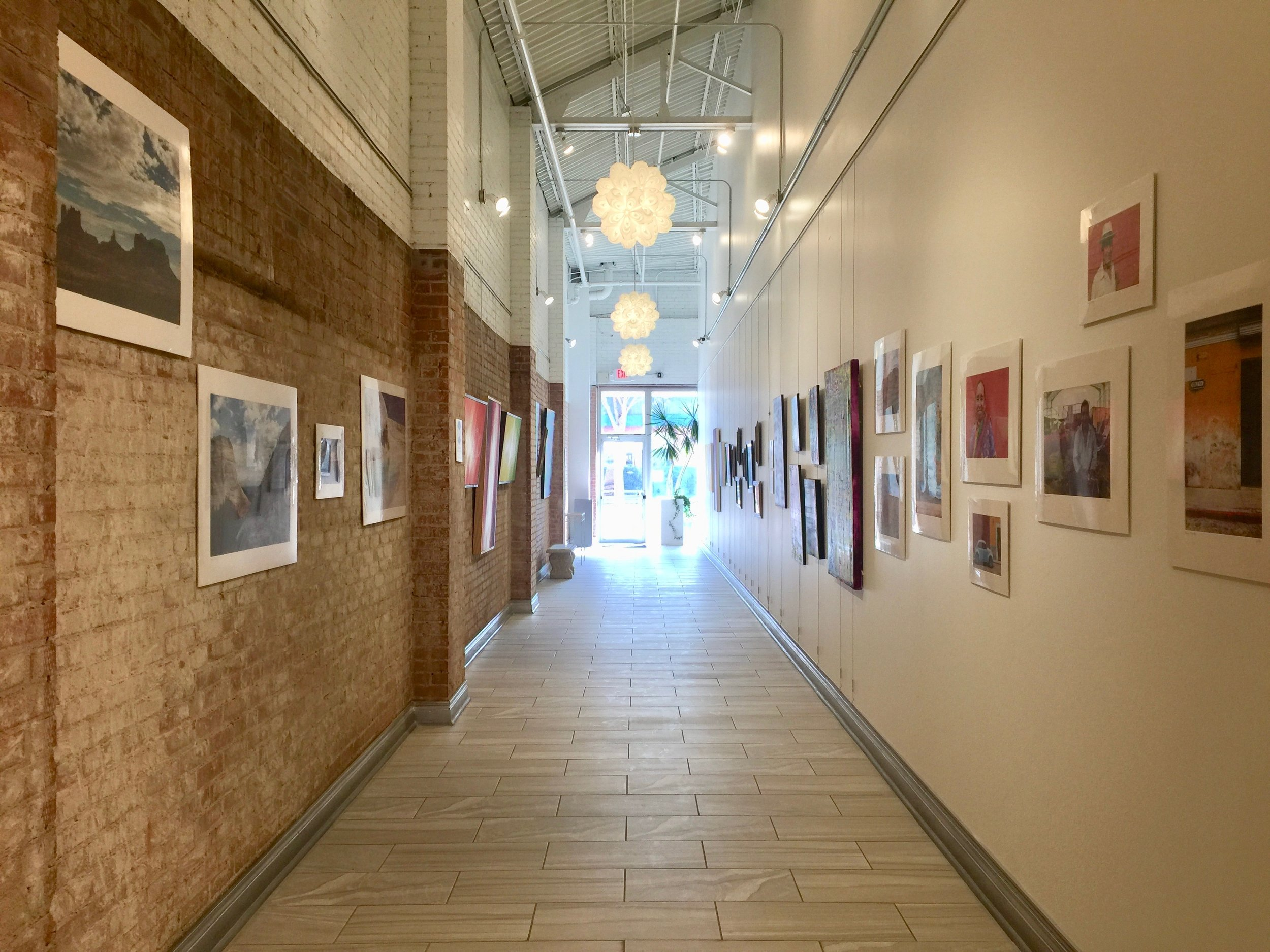 Installation view facing South, featuring Gregory Brindley