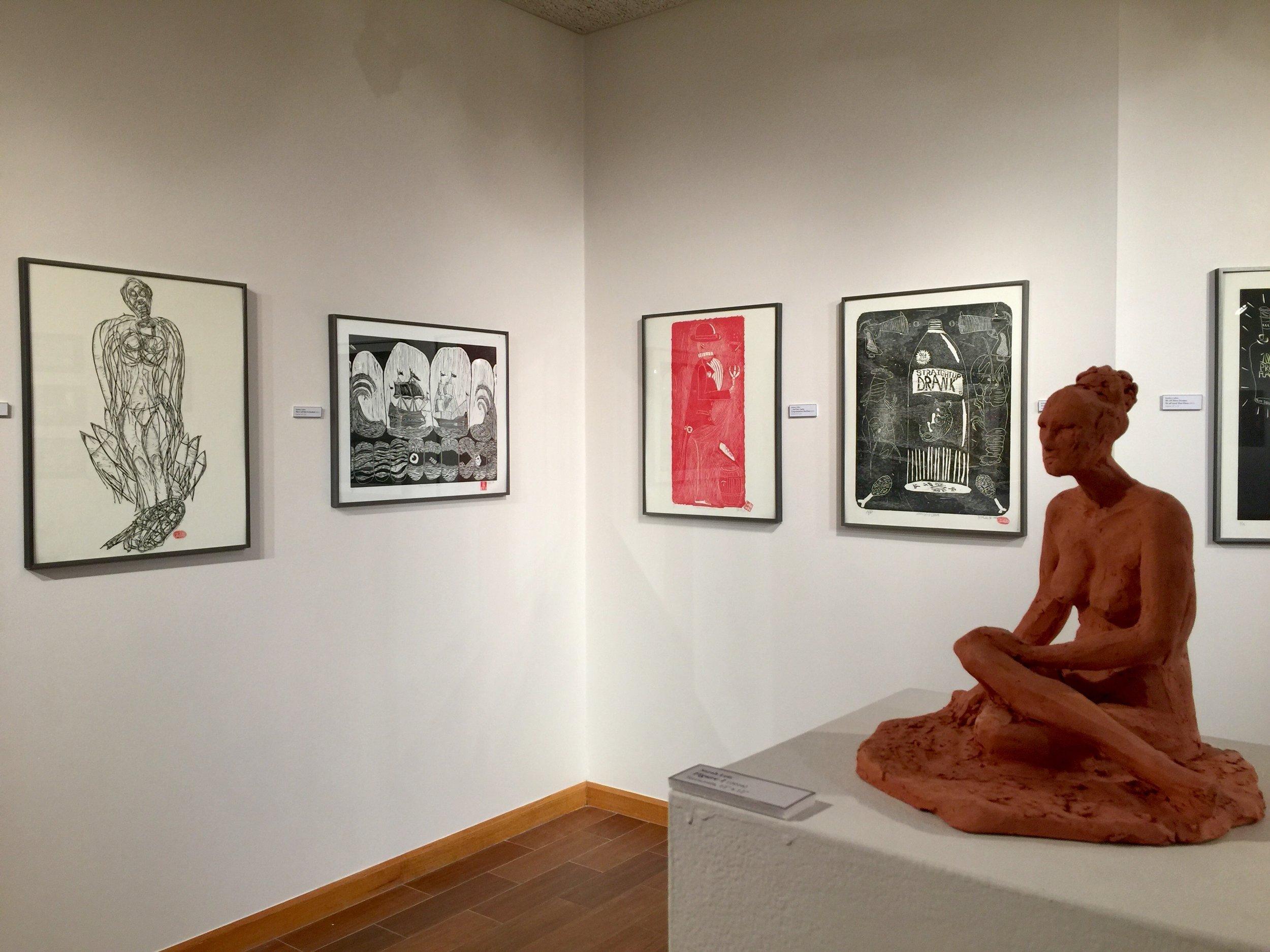 Kjelshus Collins and Sarah Leis (sculpture)