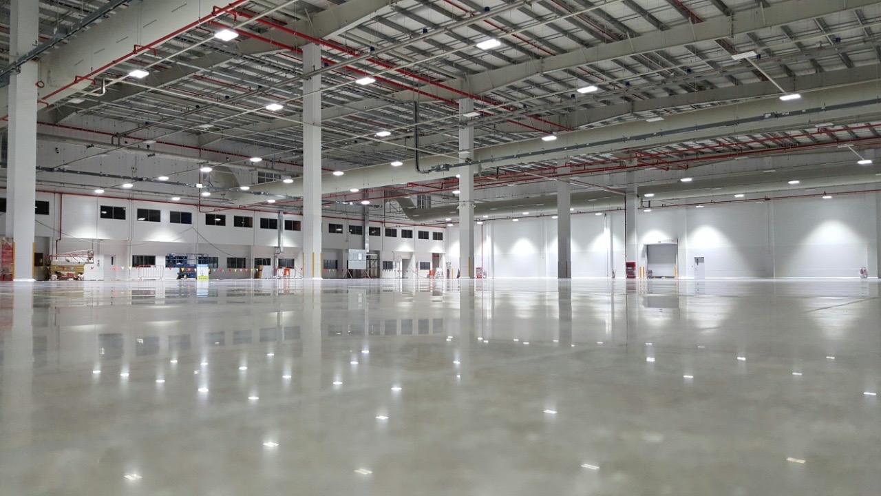commercial floor polished concrete