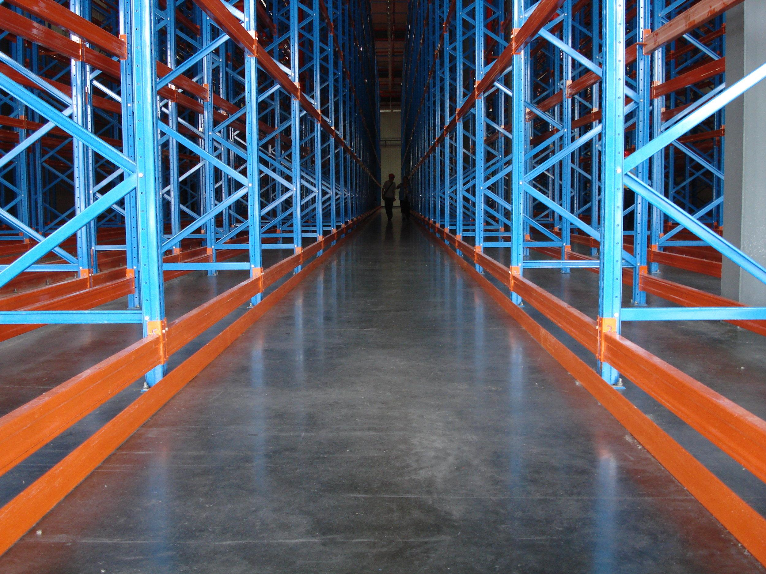 Commercial building concrete floor