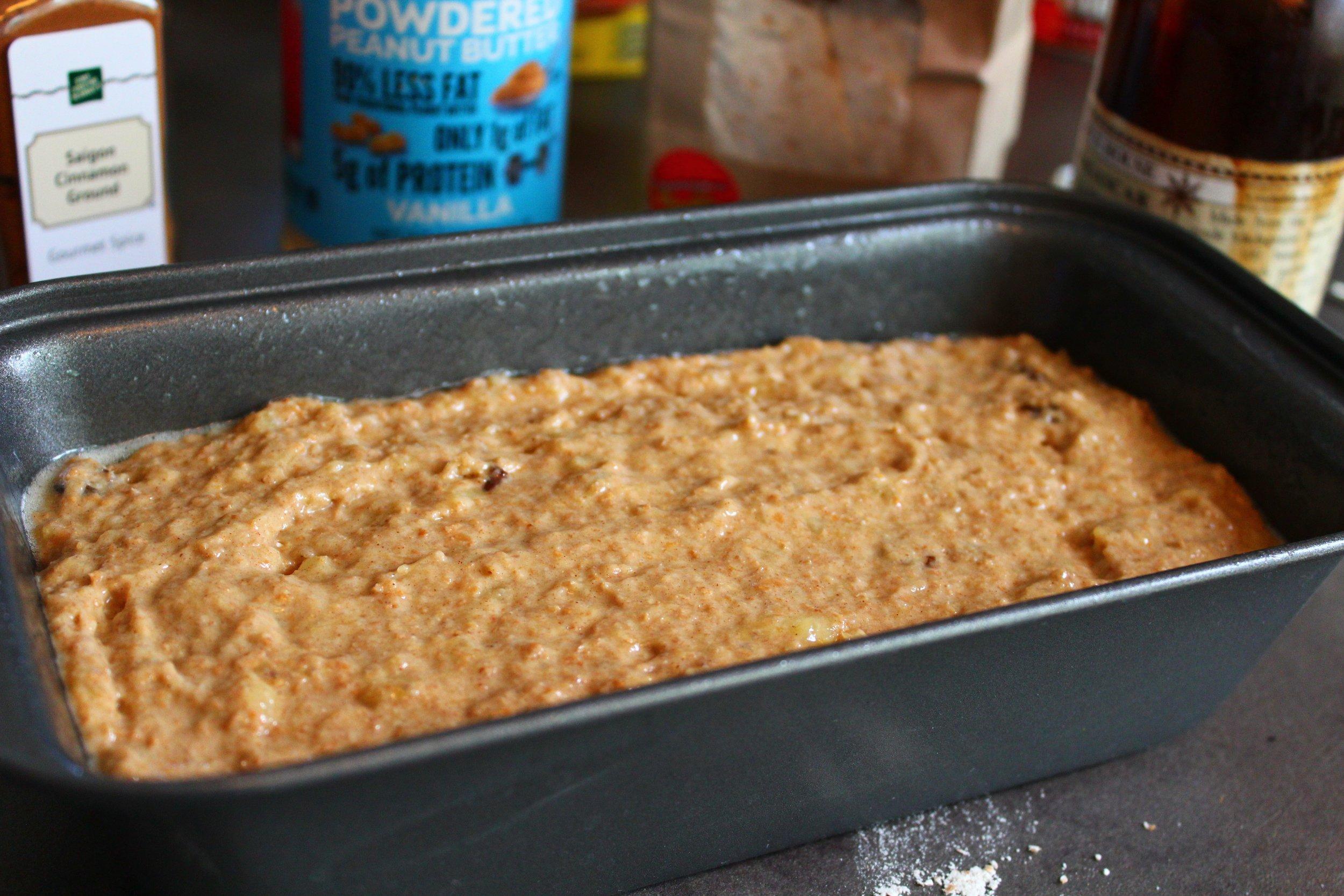 Banana Bread Mixture Loaf for Sugar-Free Banana Bread