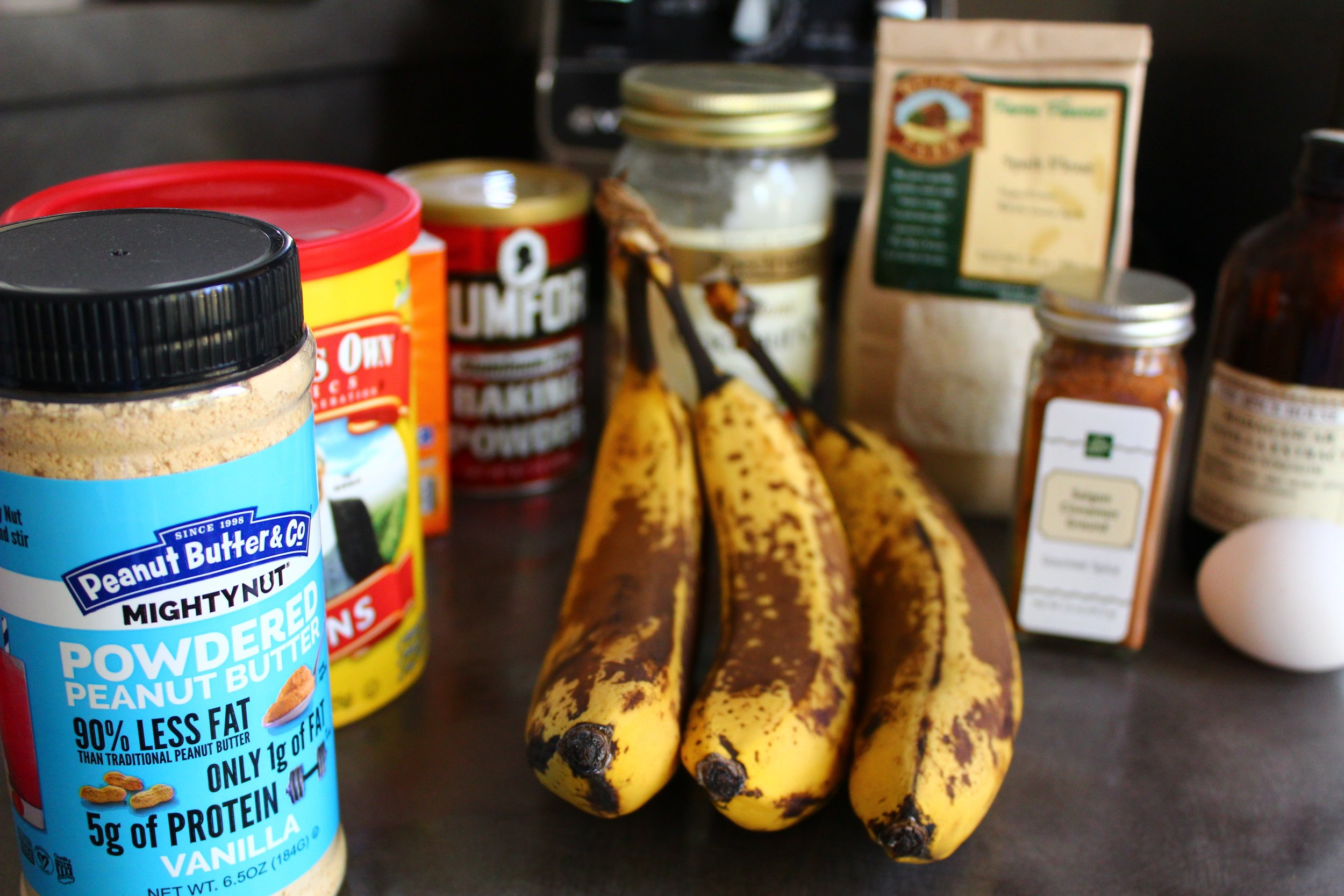 Ingredients for Sugar-Free Banana Bread
