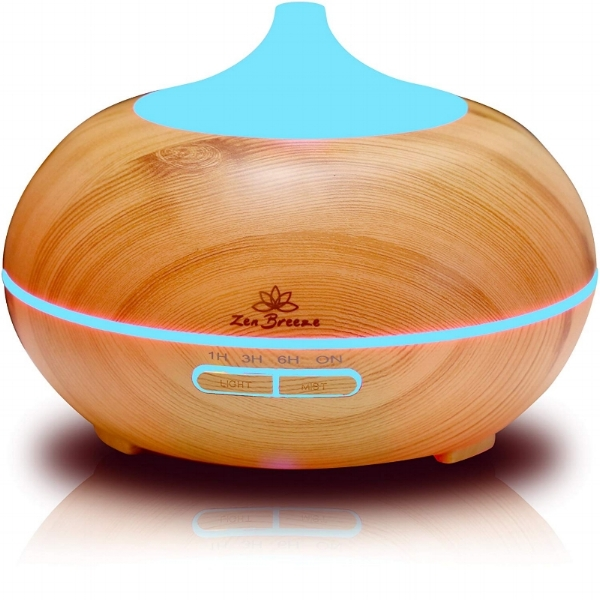 This is both an essential oil diffuser, humidifier, and can be used as a night light (which can also be turned off). You can set a timer for how long the diffuser runs, and it will safely turn itself off when the water runs out. Beautiful design for home or office to add a little tranquility into your life!