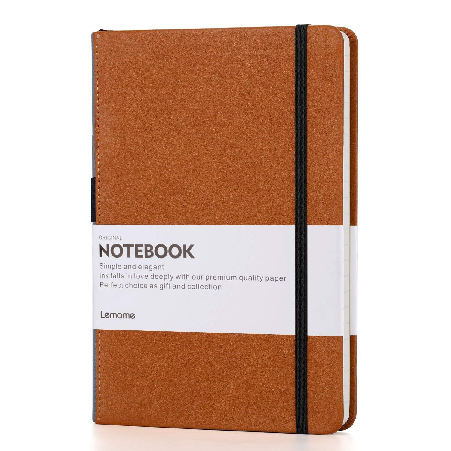 This is my favorite hardcover notebook ever! I journal everyday in it, and I adore the elastic pen loop on the side of the binding, so I am never without a pen. It's sleek and handsome, perfect for anyone on your list.