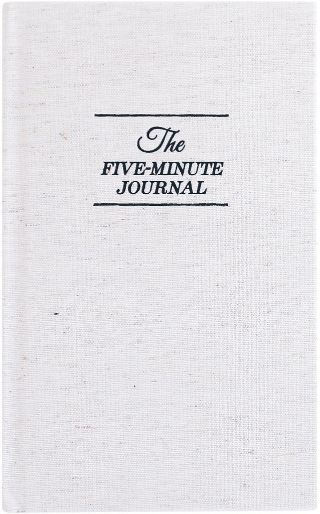 The 5-Minute Journal is transformative, and helps you create positivity, gratitude, and focus for the day. If you don't journal daily (yet), this is the perfect gift for yourself! Anyone will love this happiness gift :)