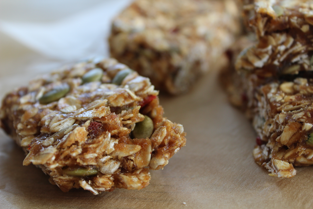 The ultimate healthy snack and breakfast meal prep recipe to keep you energized and satisfied! Chewy Trail Mix Bars (Raw, Vegan) is simple, quick, and easy!