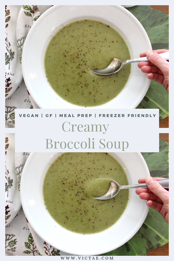 This 5-Ingredient Creamy Broccoli Soup comes together in less than 30 minutes and couldn't be easier to make! It has a silky-smooth texture, made creamy from the red potatoes, and is the perfect meal prep recipe. 5-Minute Creamy Broccoli Soup is nutritious, freezer-friendly, and perfect for lunch or a light dinner. Broccoli is a cruciferous veggie, meaning it has powerful anticancer effects!