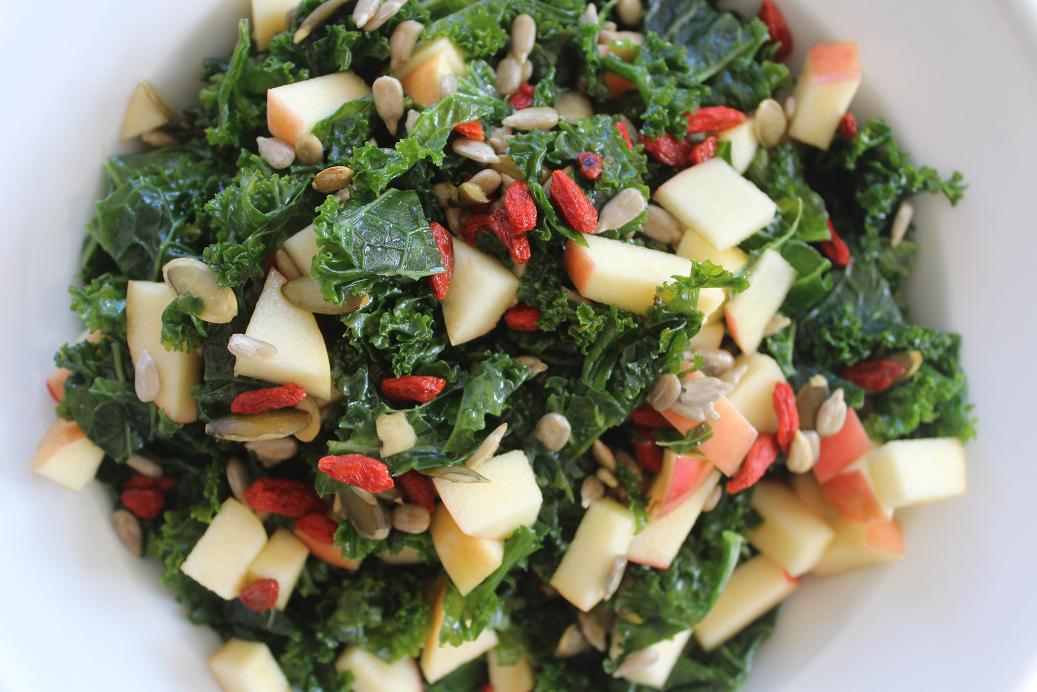 Apple And Goji Berry Kale Salad Gf Df Victae