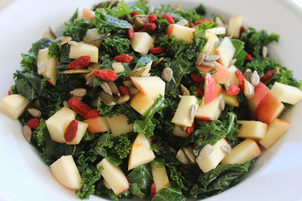 Apple And Goji Berry Kale Salad Gf Df Victae