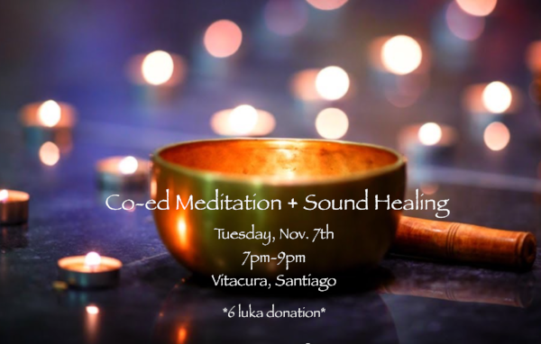 - Co-ed Meditation + Sound Bowl HealingTuesday, November 7thWe invite you to join us for a unique meditation + sound bowl healing experience.Whether you have been meditating for years or have never tried meditating, group meditation can improve your spiritual journey. Harnessing energy from the group will deepen your practice, provide you with support, and grow your inspiration!The benefits of group meditation range from personal to communal, and can have a powerful effect on our lives. No matter what you experience when you meditate alone, the power of group energy can amplify your practice.Tea will be provided, but feel free to bring a snack to share!*6 luka donation*