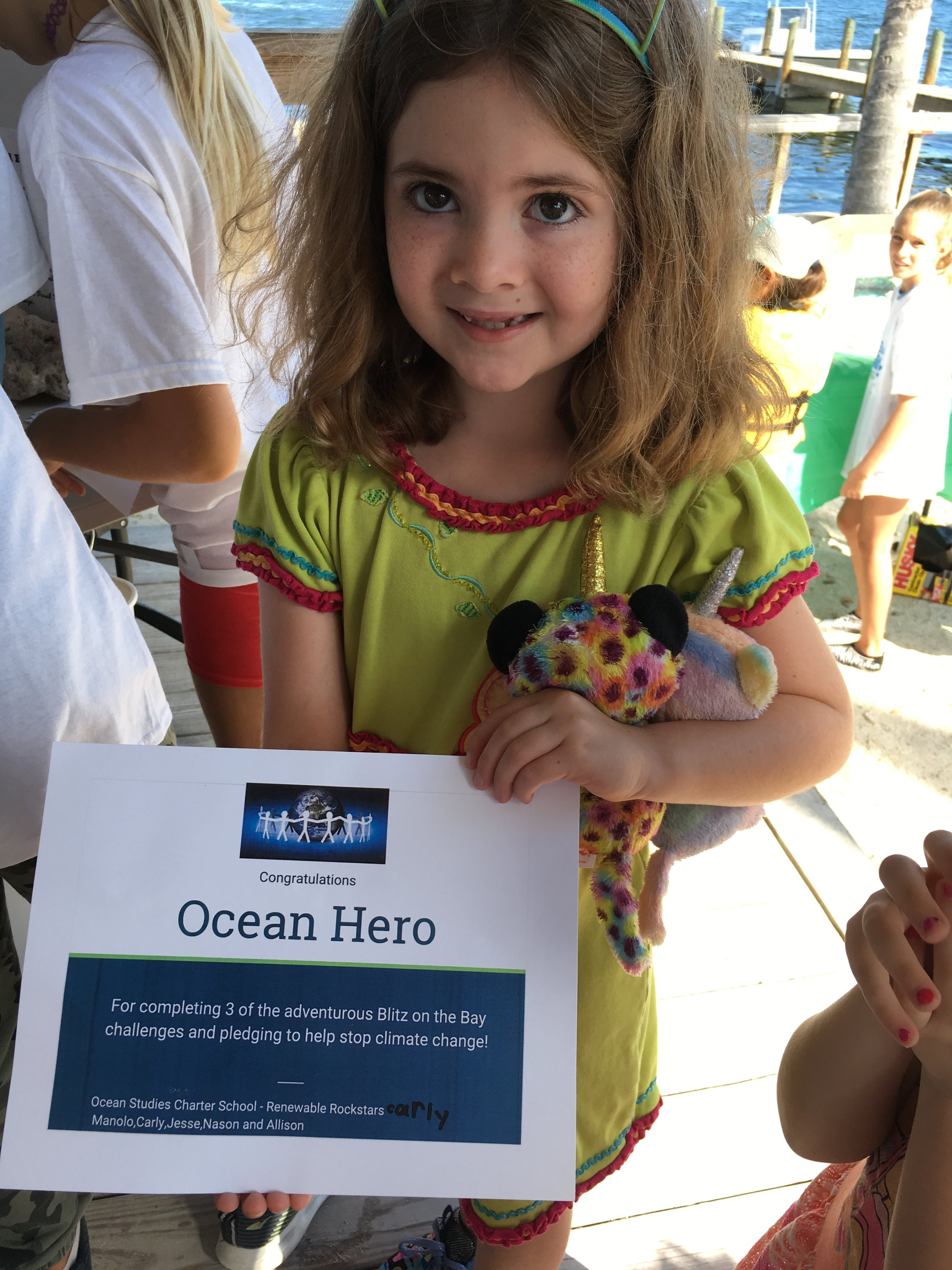 An Ocean Hero awards were given to Blitz goers who could proved they learned something about the Bay!