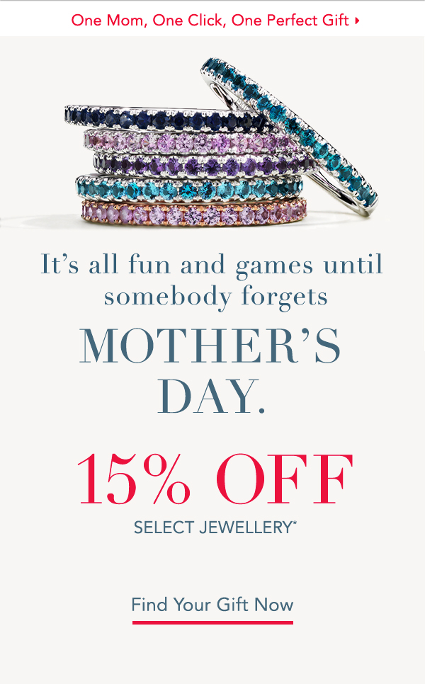 THANK US LATER: 15% OFF MOTHER'S DAY GIFTS