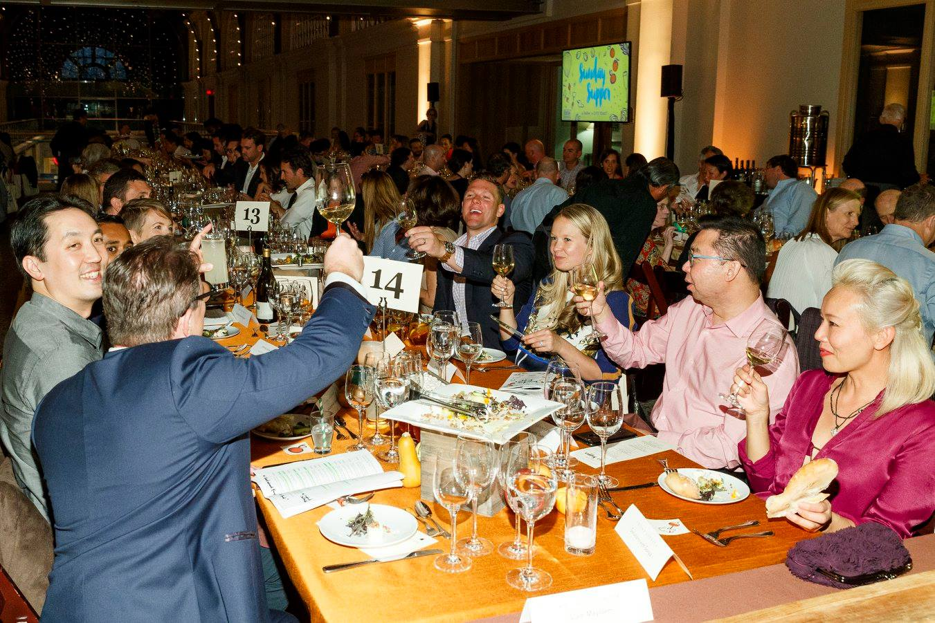 My (very fun!) table at the fundraiser.