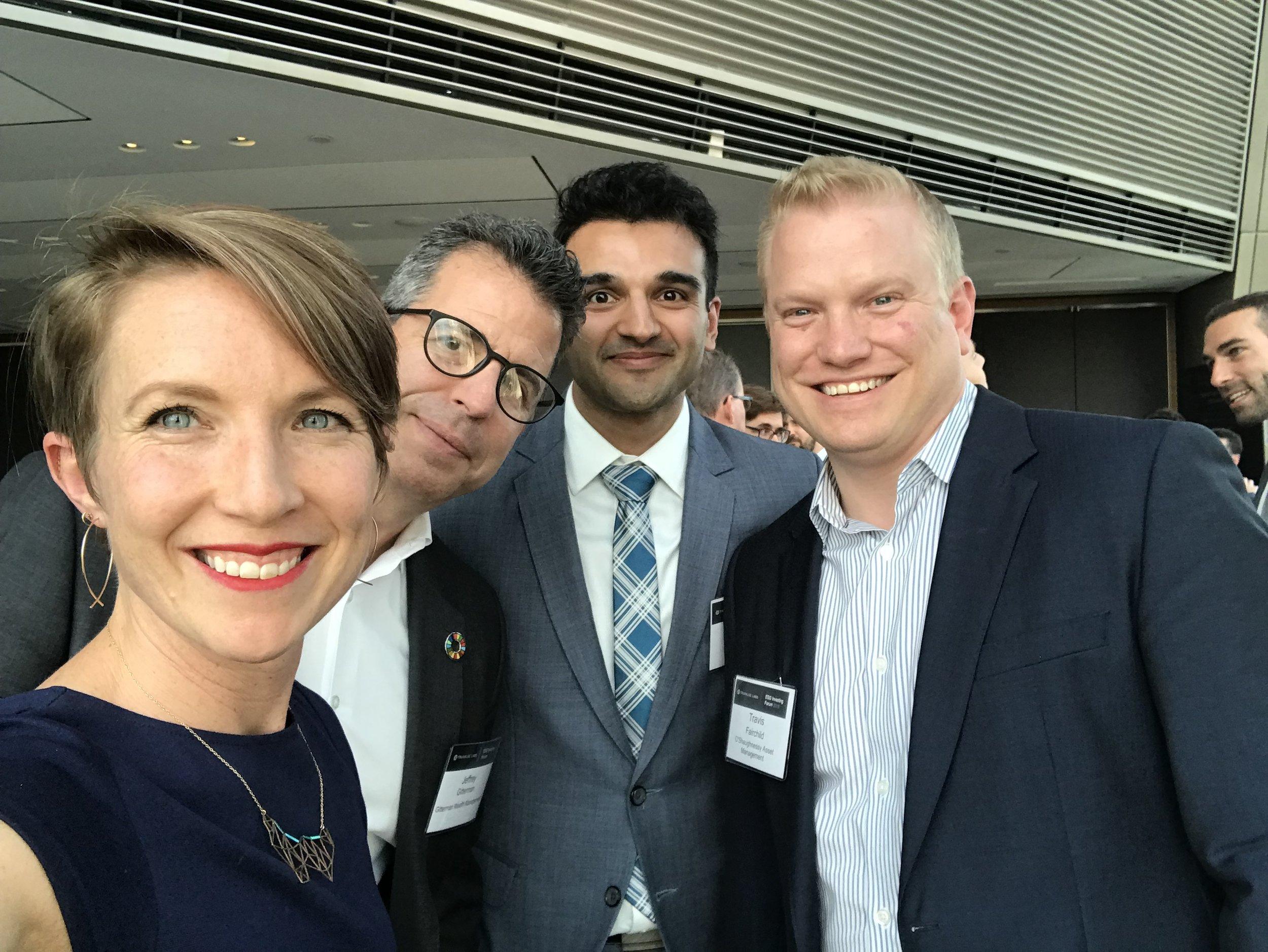 At the reception. Me, Jeff Gitterman, Aakash Kapur, Travis Fairchild