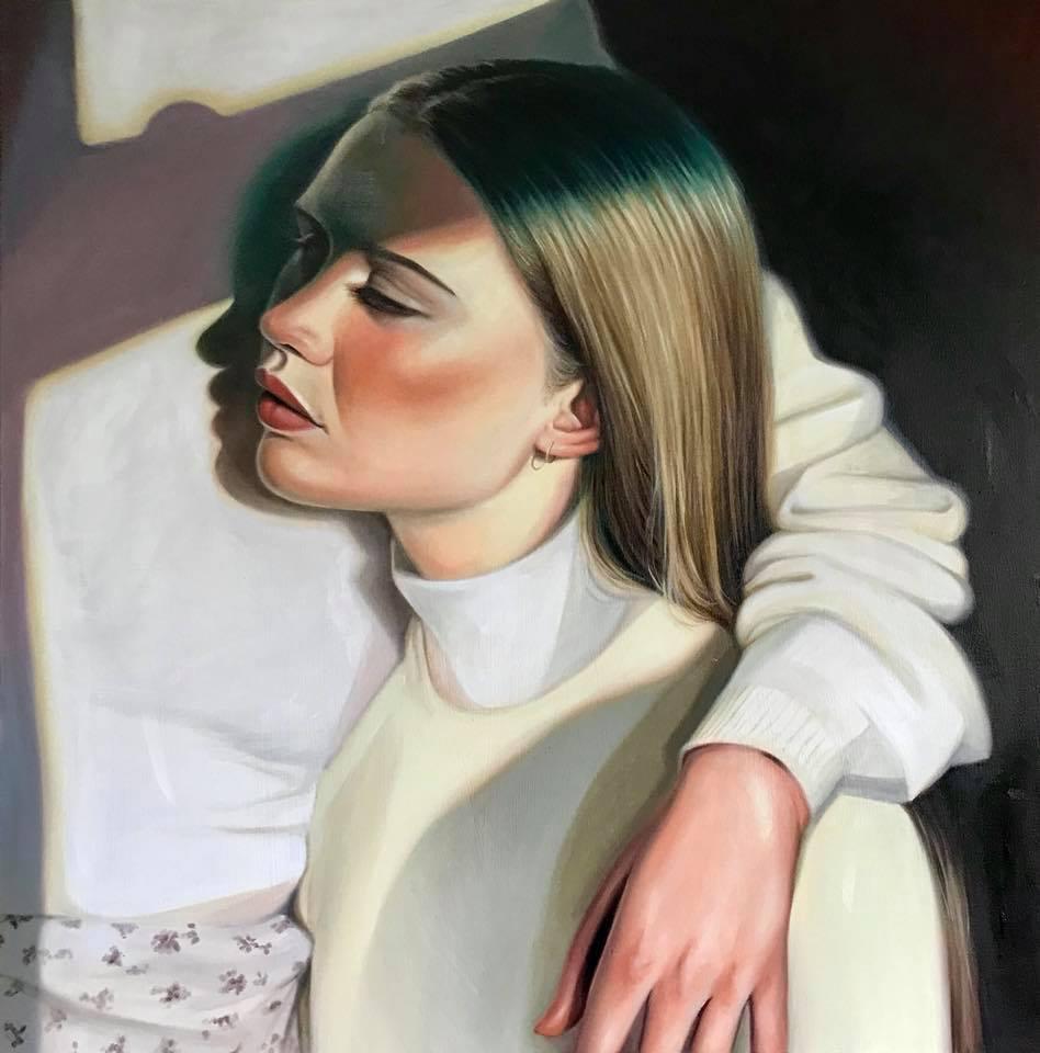 emerald light shadow portrait alternative realism