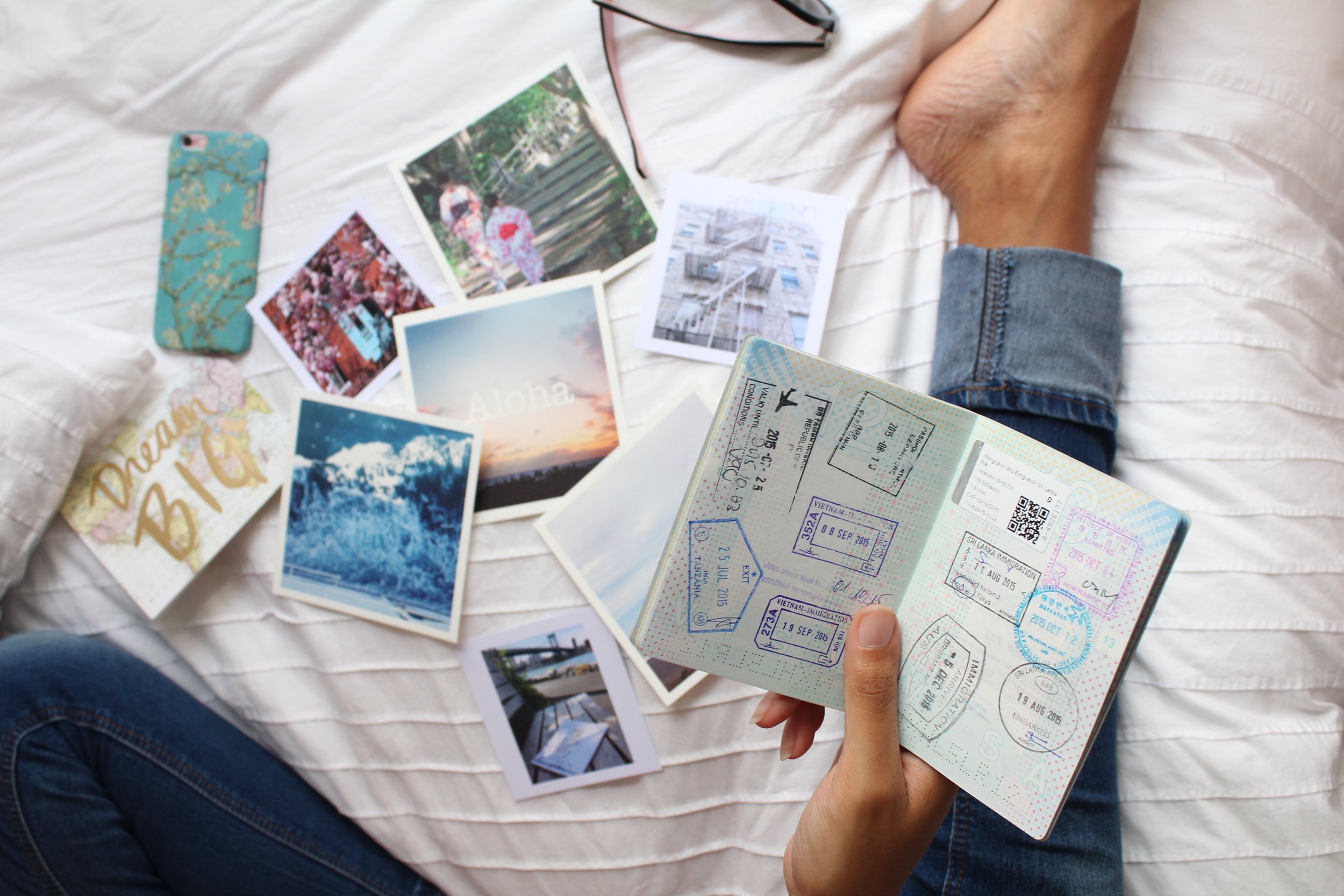 printed memories and a passport filled with stamps ~pure bliss