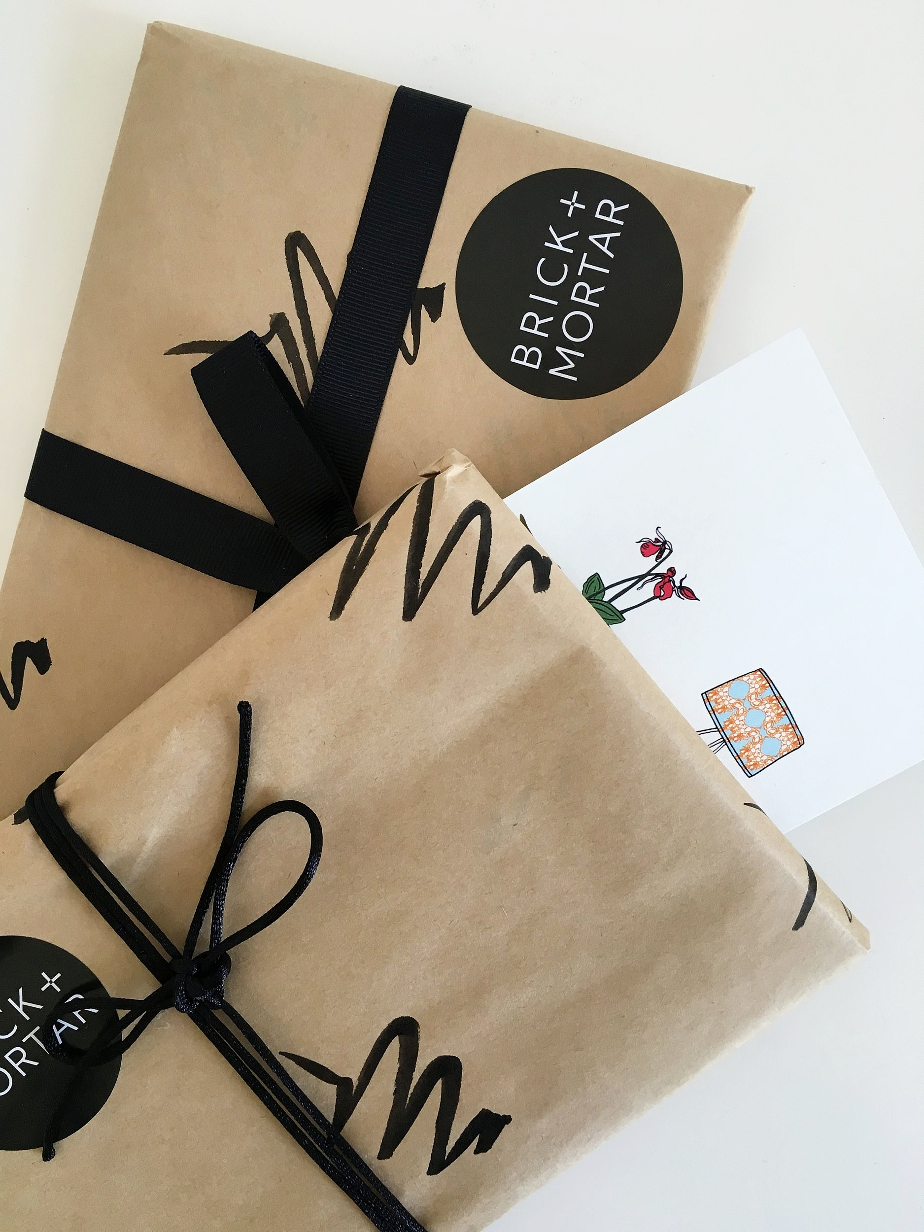 Sarah's touch on her gifts -the simplicity of the little swirls drawn on paper