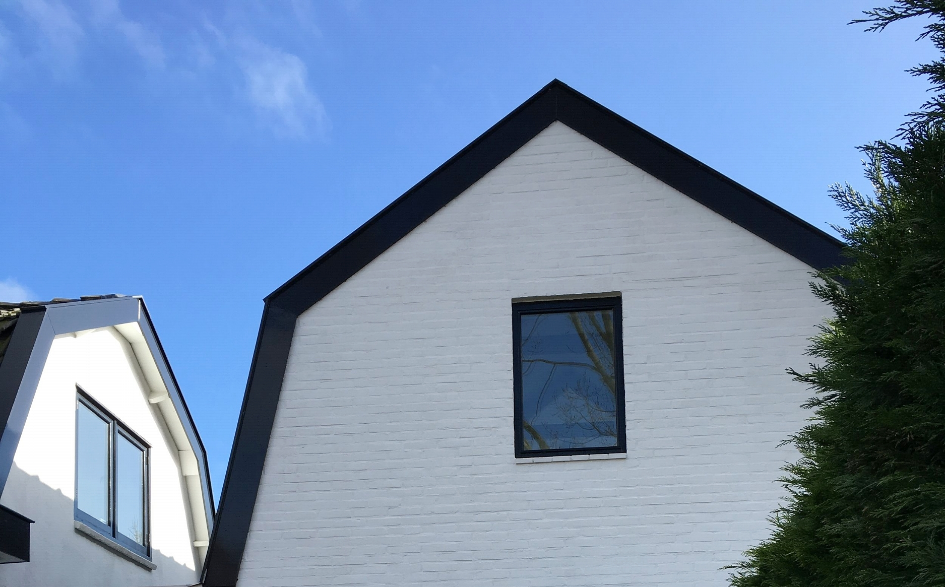 ~the two rooftops of our house near Amsterdam.
