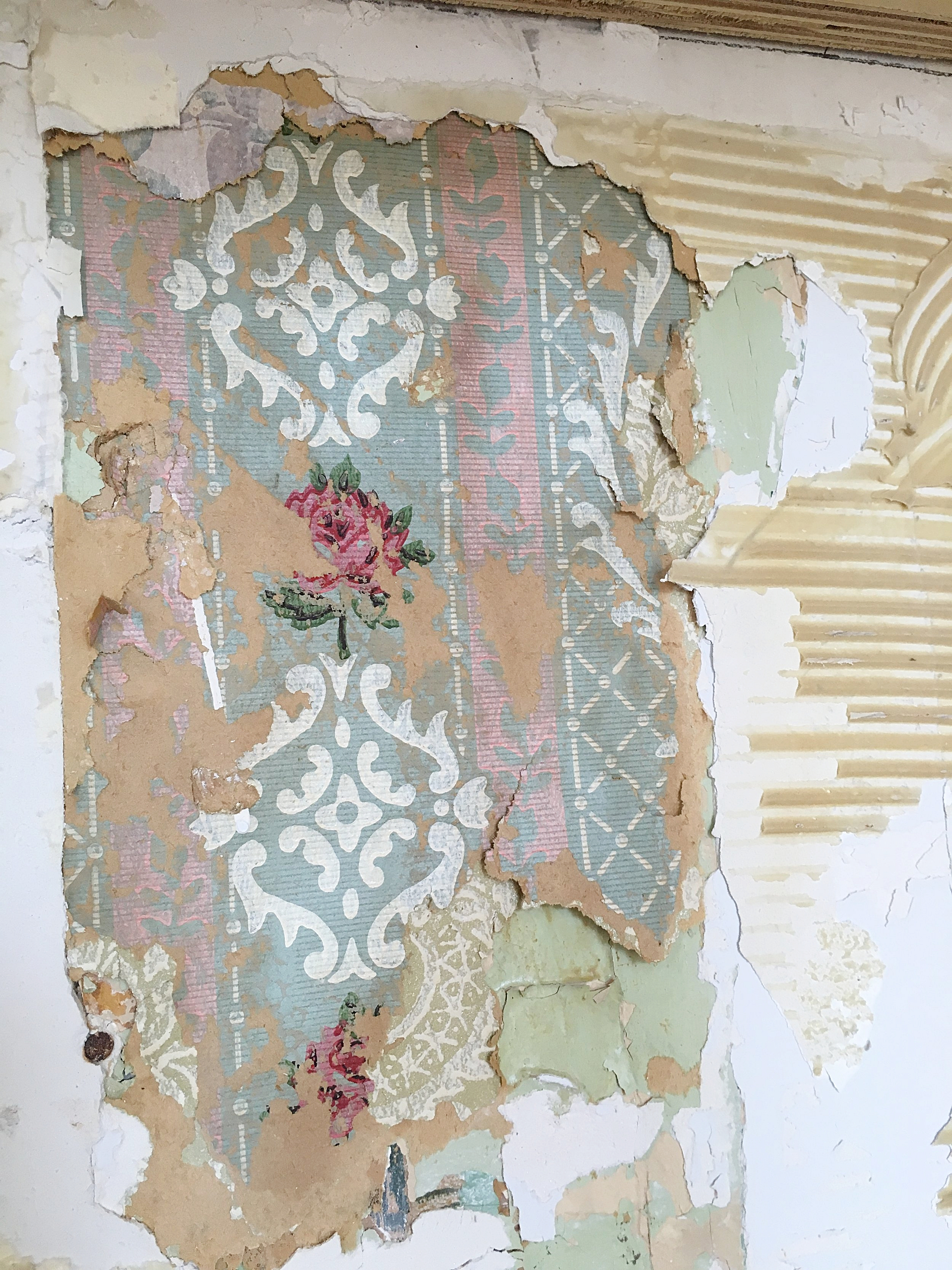 Layers of old wallpaper in our next home, nr. 10