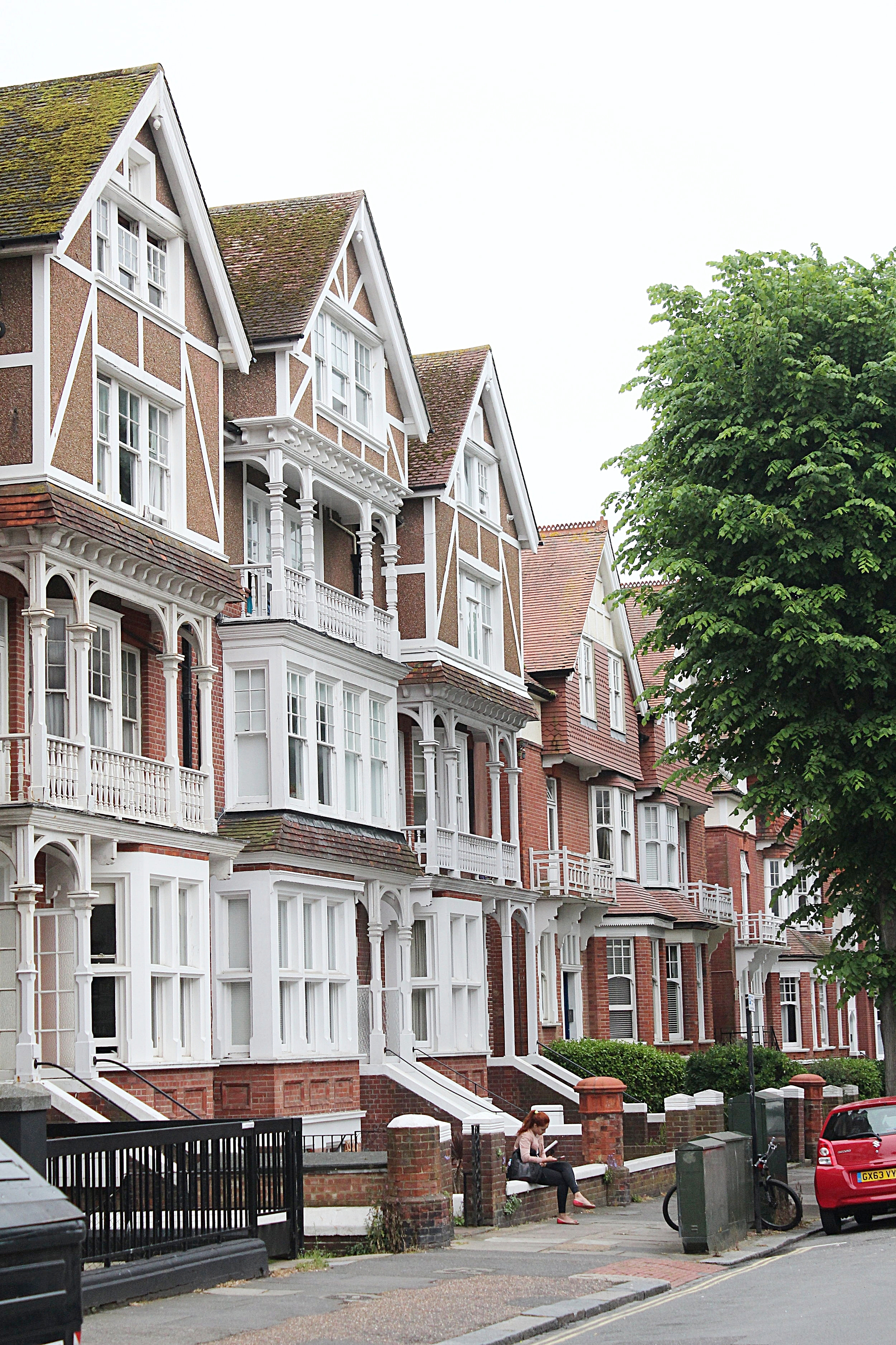 Brighton streets are filled with classic houses.