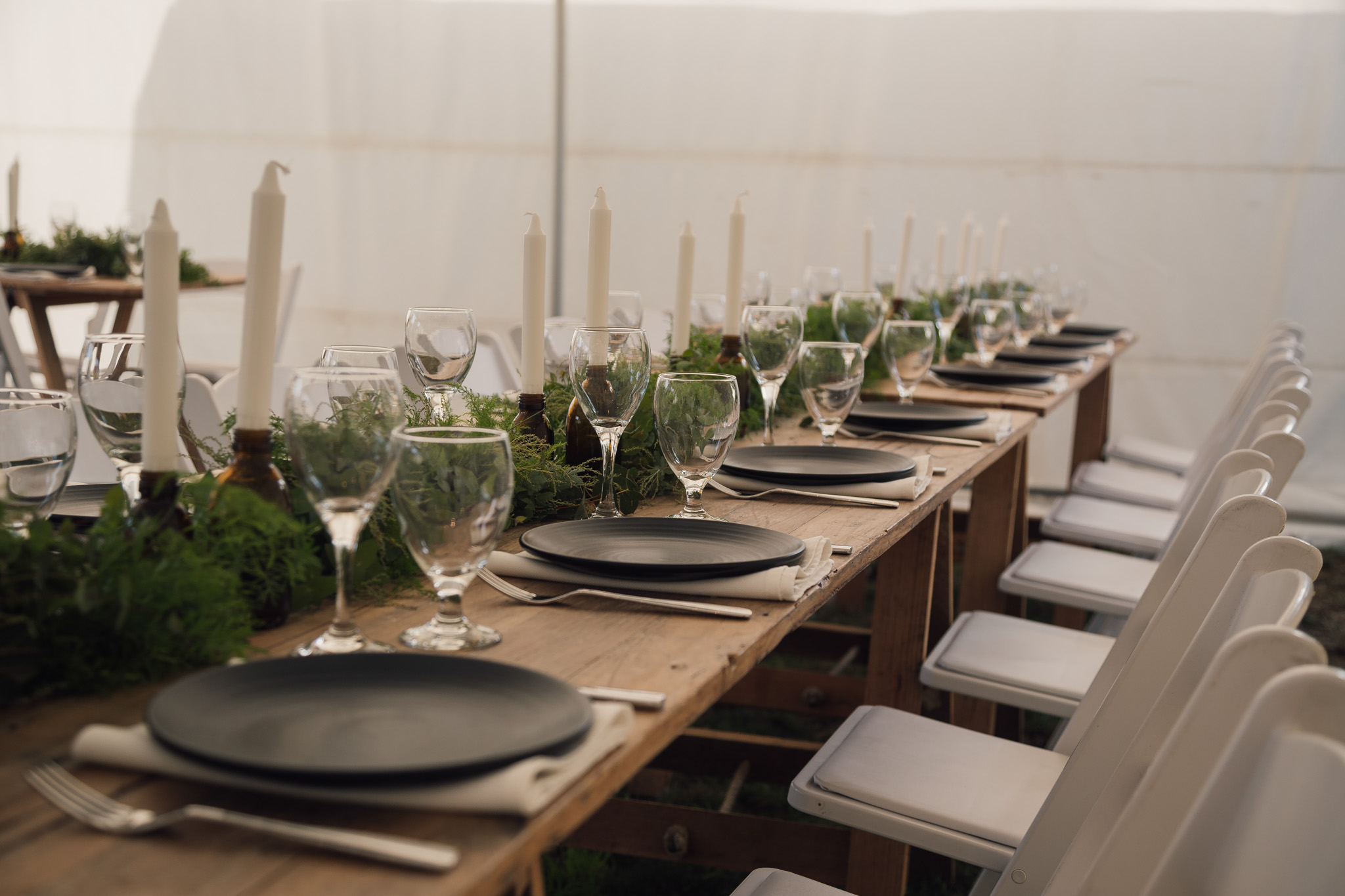 Rustic 2.4 & White Padded Chairs