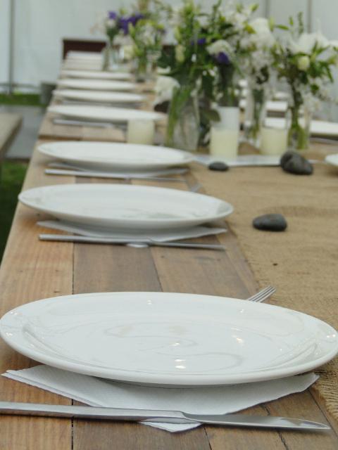 Dinner Plates 70c, Cuttlery 60c