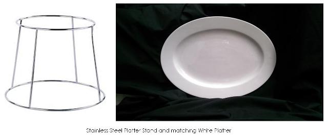Platter Stand $3 & White Service Platter $5