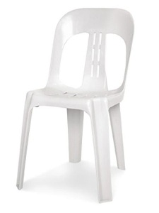 White Stacking Chair $3.90
