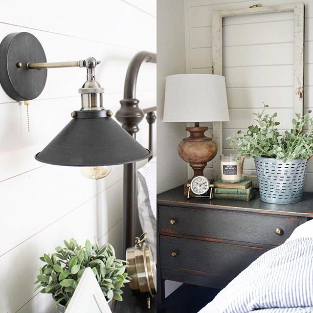 Trying to decide between a wall lamp or a regular lamp. I love both! Ben thinks the left pic is better. I love the look of both but am having a hard time choosing😁 Any thoughts?