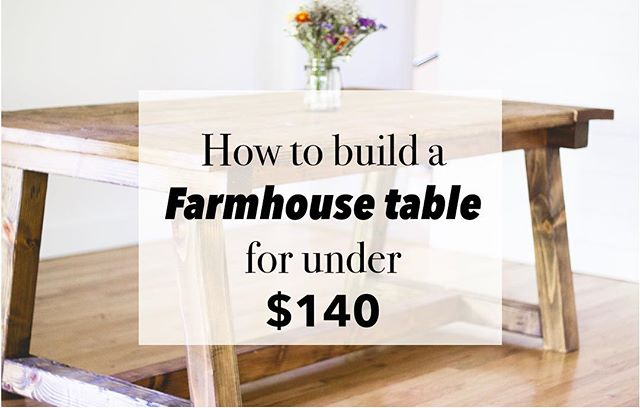 Our DIY farmhouse table is finally up on the blog! (And we did it for under $140!) would love to hear your guys thoughts👍 have a great Sunday!