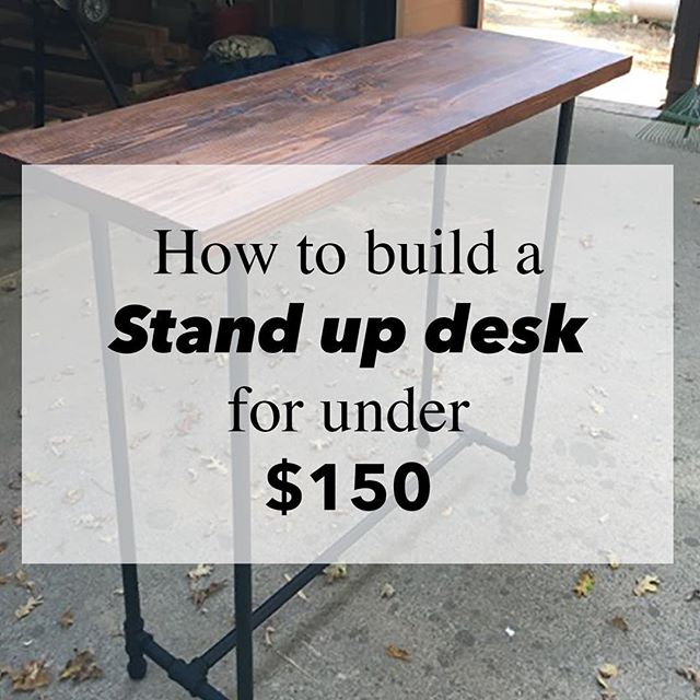 Our stand up desk DIY is up on the blog! Would love to hear your comments👍 have a great Sunday :)