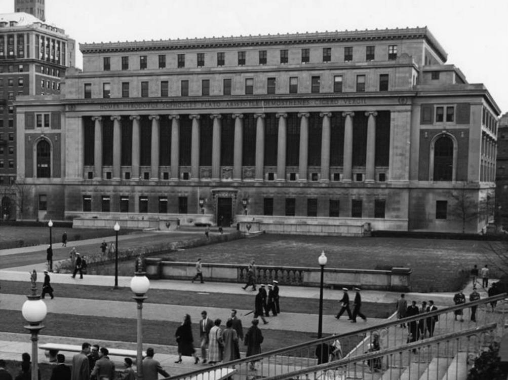 Butler Library, Columbia University.