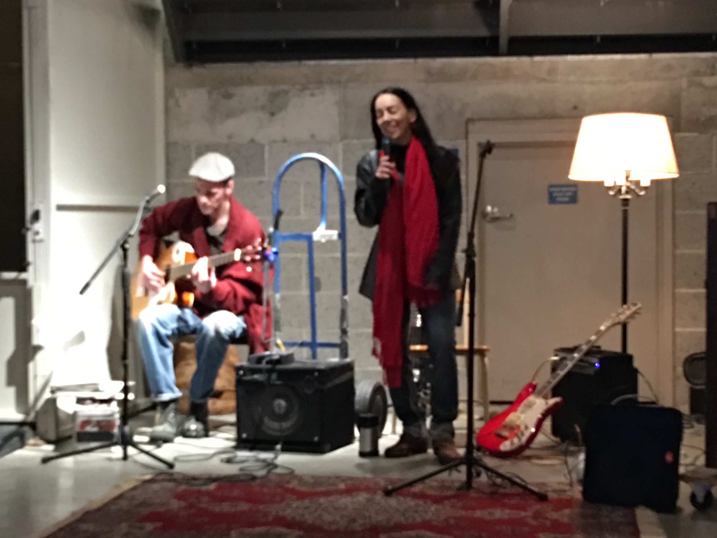 Midway Gallery Jam Session 3.14.17 - performing songs from Indie Artist Singer/Songwriter Jobe Freeman's CD 'Medallion Sessions,