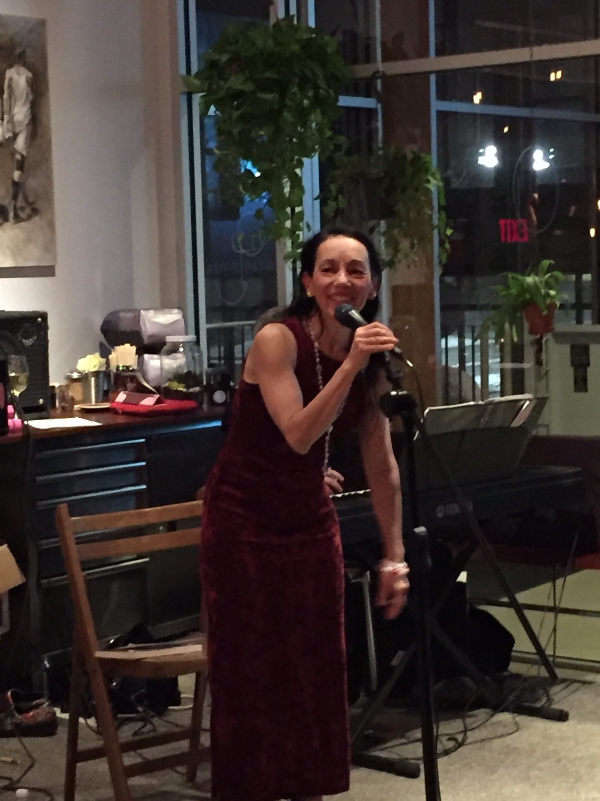 Internal Matter Restaurant and Cafe 4.25.16 - Sharon sings pop and Broadway show tunes