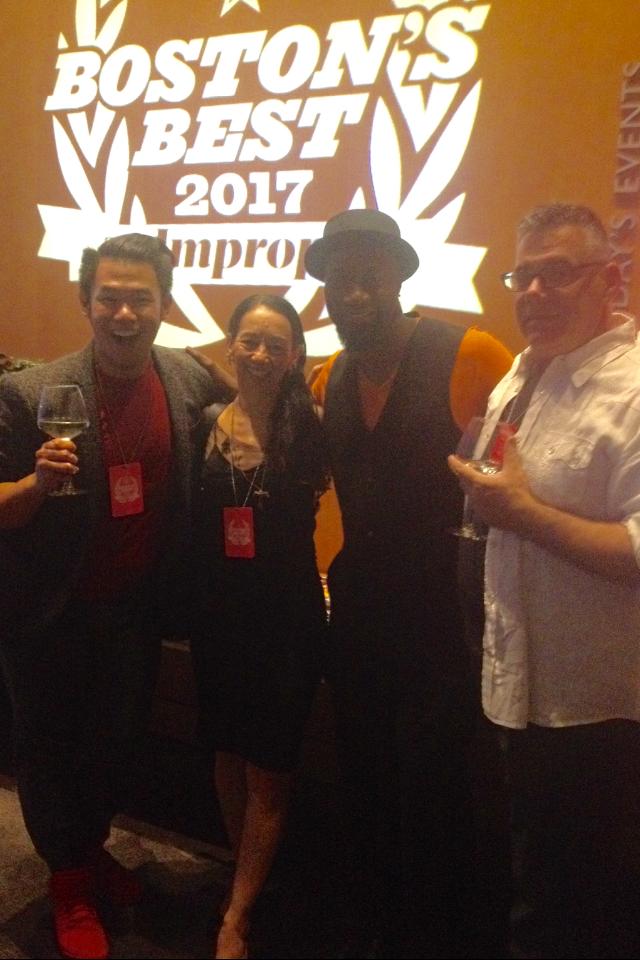 Chris Surhalim, Sharon, Carl Alleyne with Dance Complex Exec. Director Peter DiMuro -