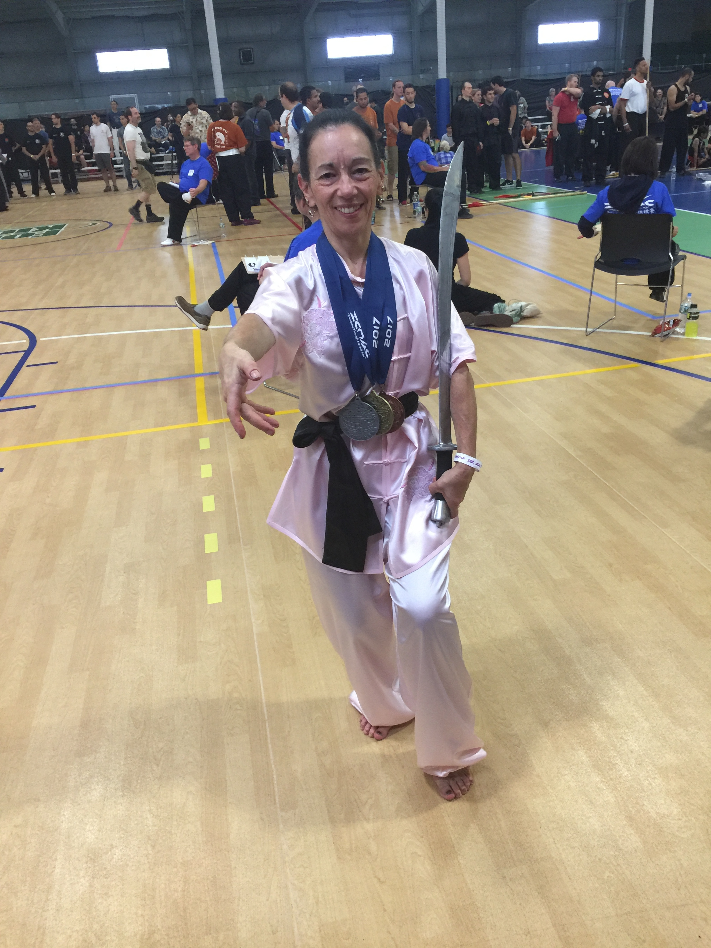 ICMAC Tournament Boston 10.1.17Gold Medal Adv. Empty HandSilverMedal Adv. Weapons FormsBronze Medal Tai Chi -