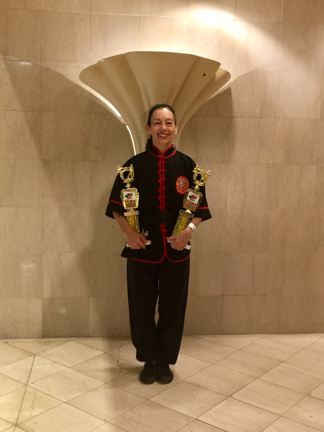 Sharon Montella 4.7.18 Ocean State Grand Nationals Krane Tournament Warwick RI 4.7.18 - Black Belt Women Trad. Weapons for Double Sword. Trad. Forms with Movements of White Swan - high resolution.jpg