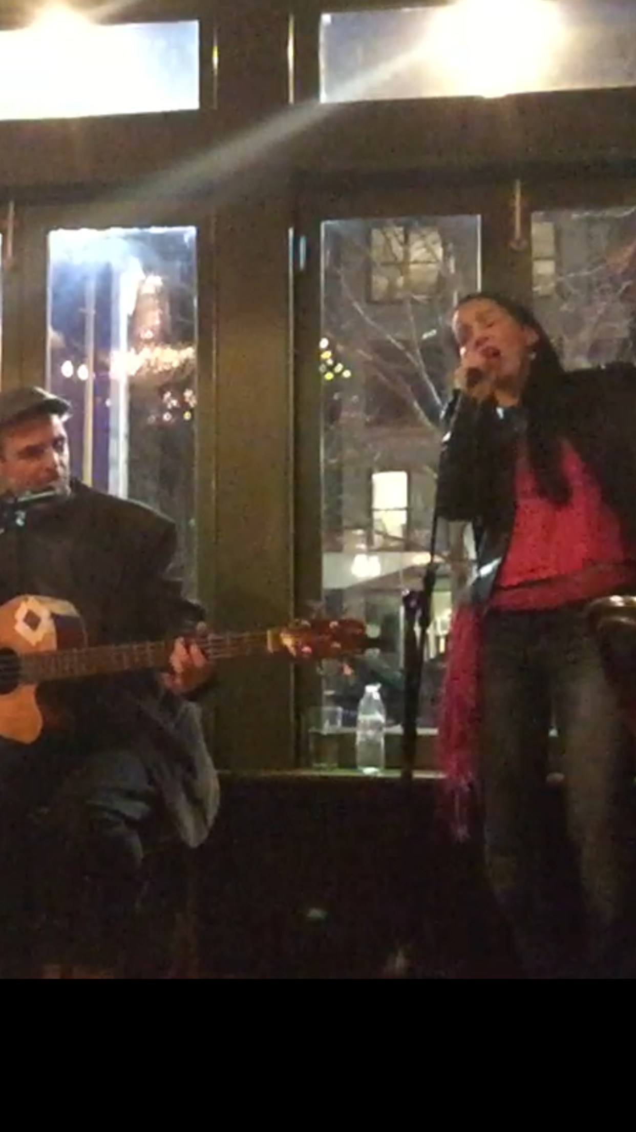 Jobe Freeman and Sharon sing at Medallion Sessions II CD Release Party at Bebop Restaurant in Boston November 11, 2018