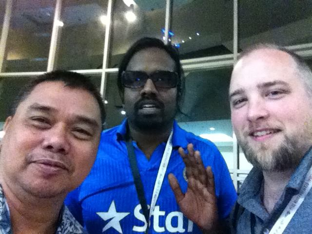 Wilbur Sagunaraj, the first class simple superstar with yours truly (I'm the beardly one)