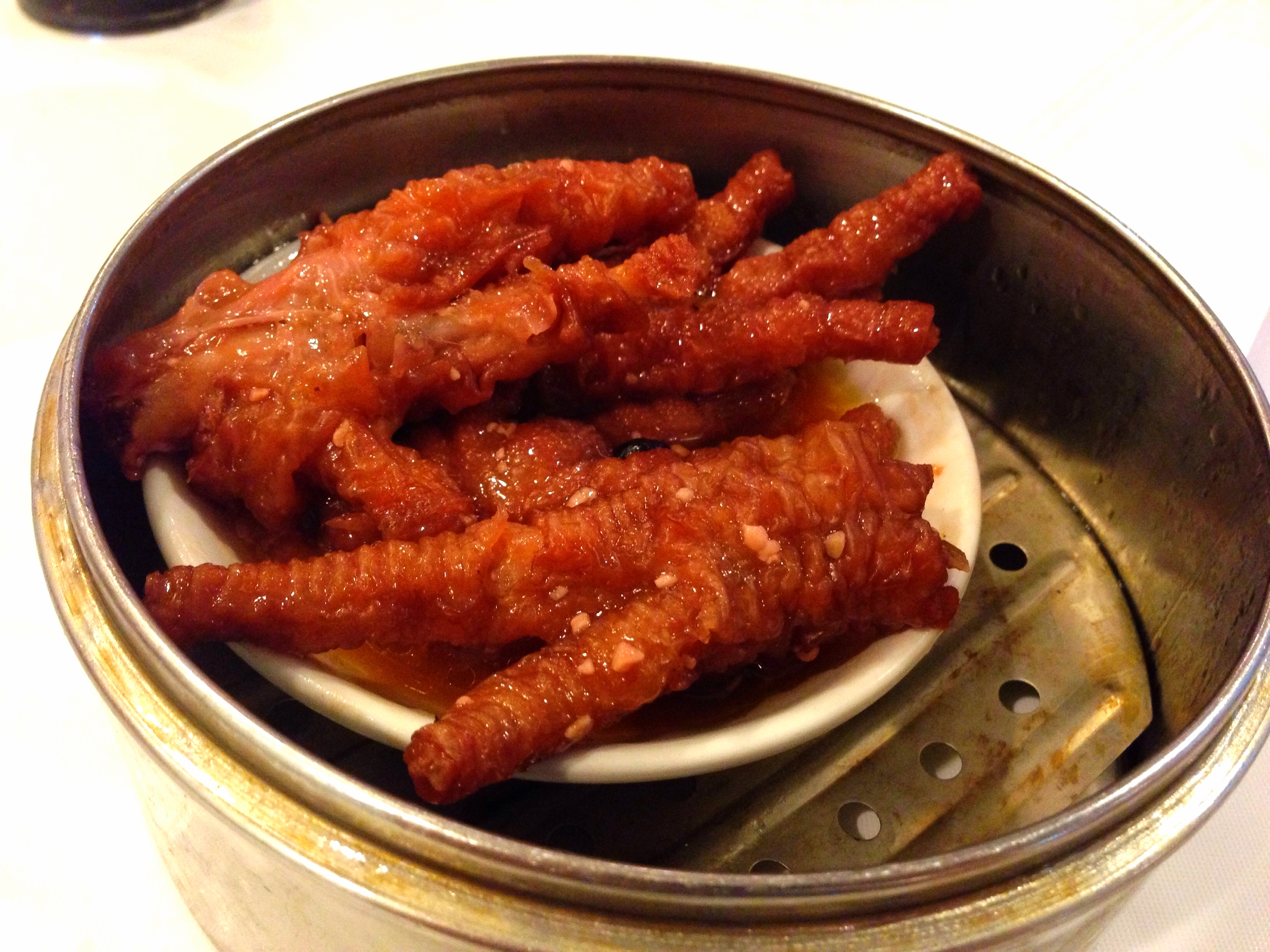 Braised chicken feet.  Quite delicious