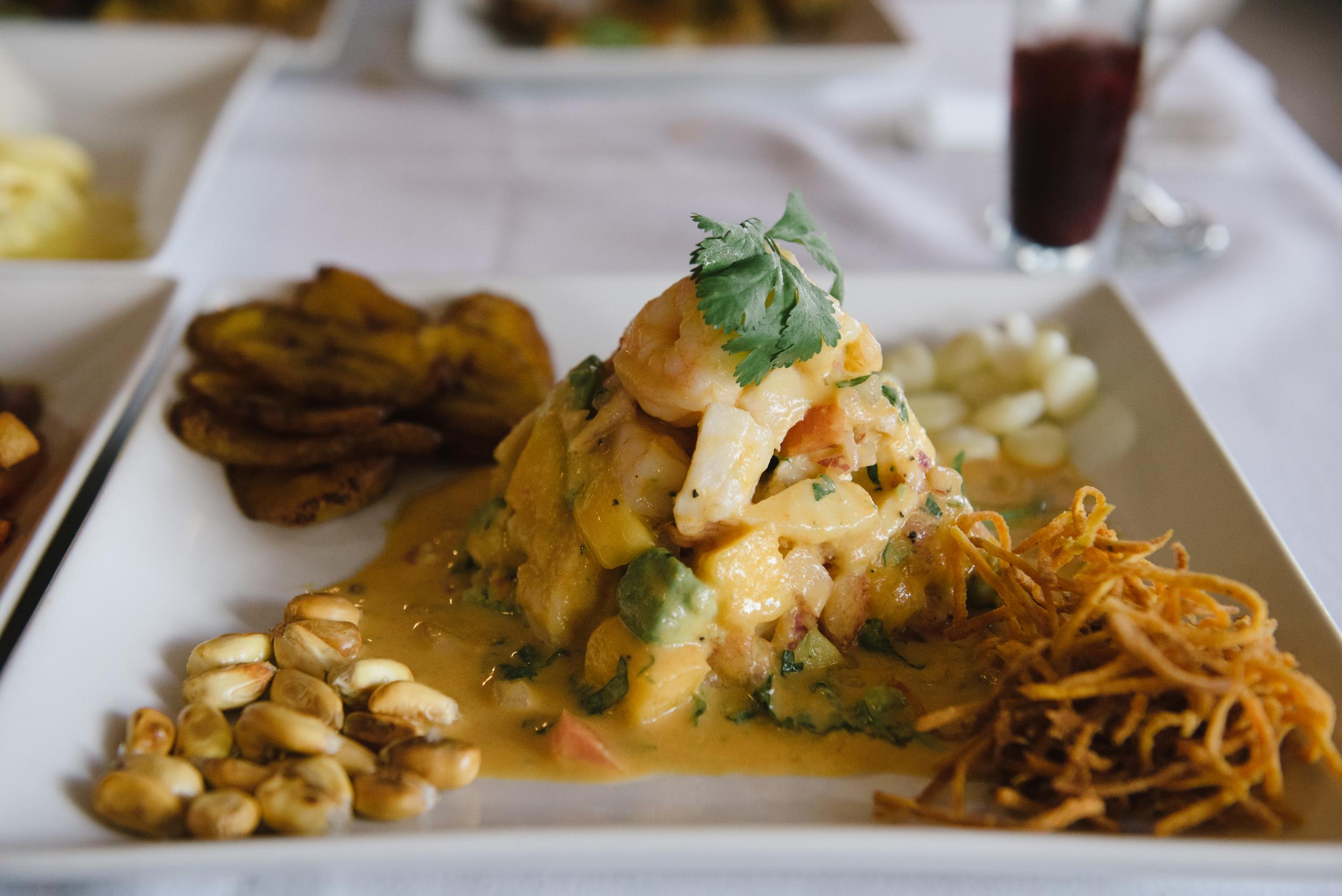 Ceviche Nativo (Shrimp, Fish, Mango, Avacado)