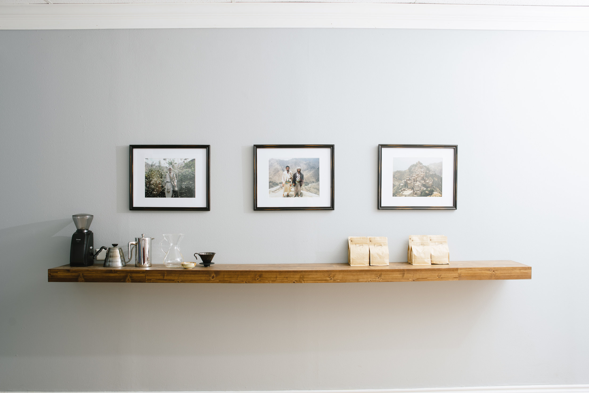 Minimalist decor, maximumist coffee.