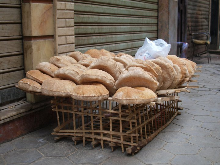You buy your bread on the street