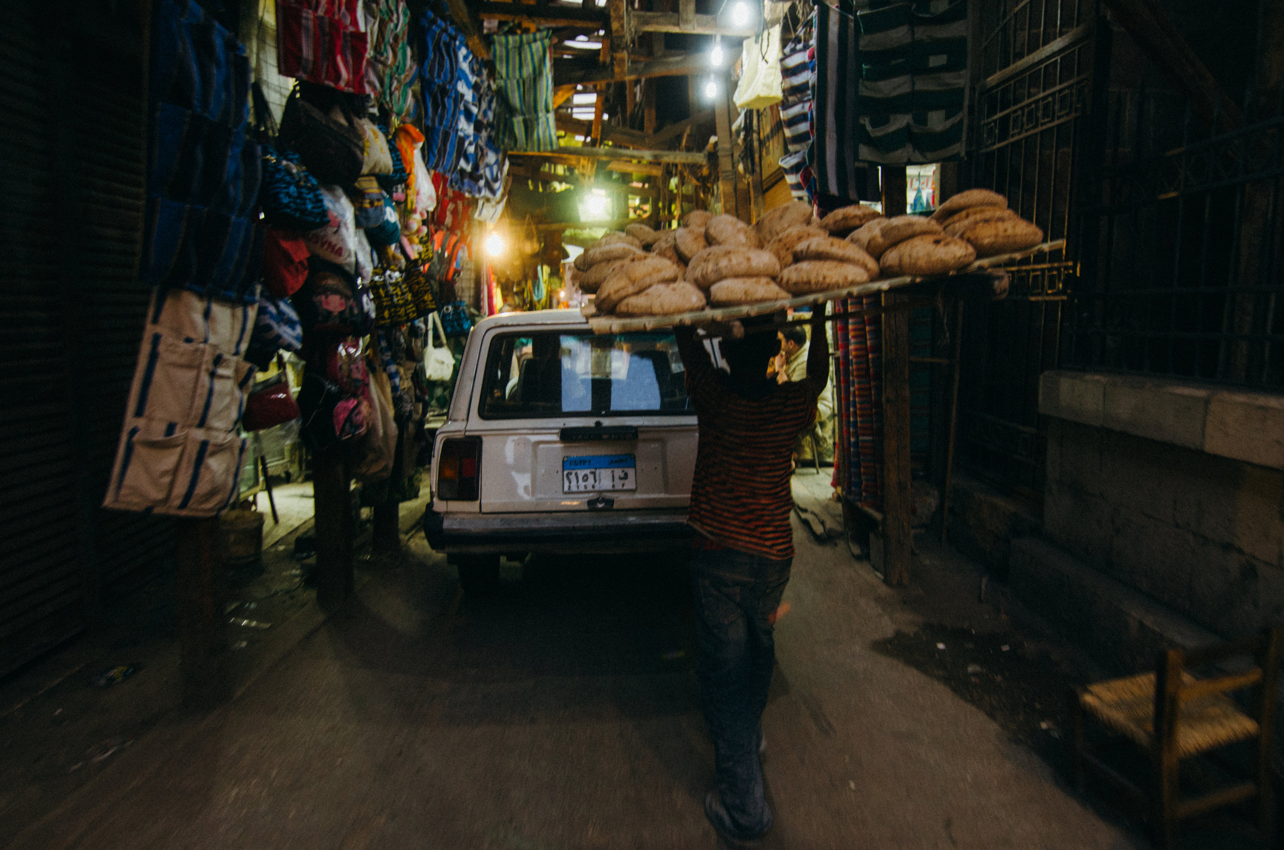 The bread is delivered fresh every day