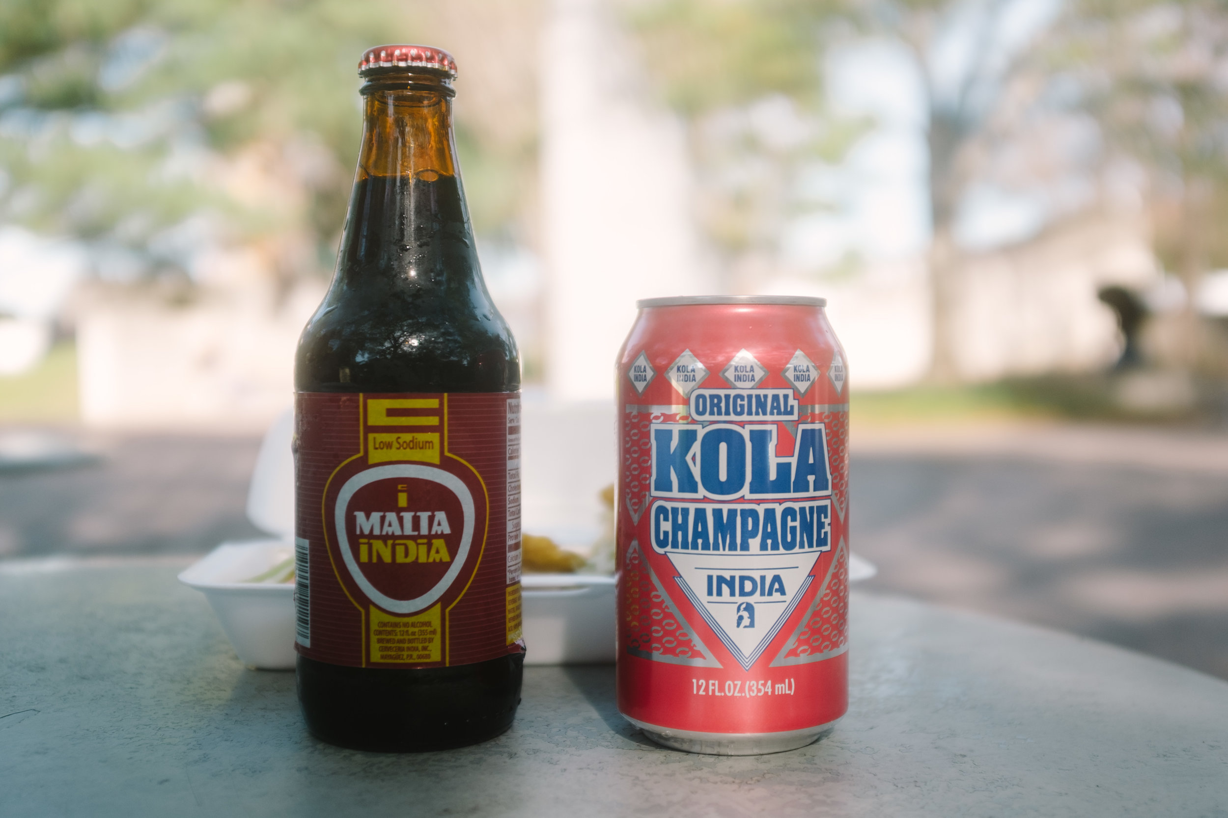 Kola Champange (somewhere between big red and creme soda, malta (Rootbeer with carrots/dates flavor)
